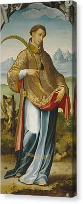 chasuble on Saint Ildefonso Canvas Print by San Esteban
