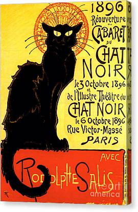 Chat Noir Vintage Canvas Print by Mindy Sommers