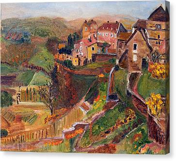 Chateau Chalon Canvas Print by Michael Helfen