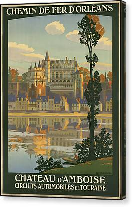 Chateau D' Amboise Canvas Print by David Wagner