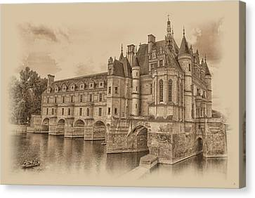 Chateau De Chenonceau Canvas Print by Nigel Fletcher-Jones