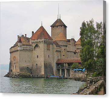 Chateau Canvas Print - Chateau De Chillon Switzerland by Marilyn Dunlap