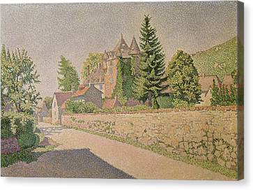 Chateau De Comblat Canvas Print by Paul Signac