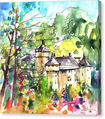 Chateau De La Caze Canvas Print by Miki De Goodaboom