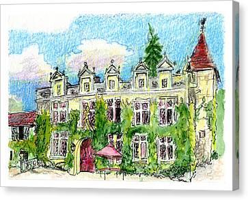 Chateau De Maumont Canvas Print
