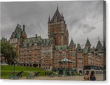 Chateau Frontenac Canvas Print by Capt Gerry Hare