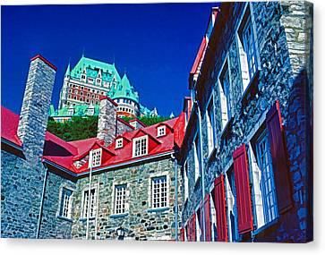 Chateau Frontenac Canvas Print by Dennis Cox