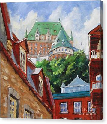 Chateau Frontenac Canvas Print by Richard T Pranke