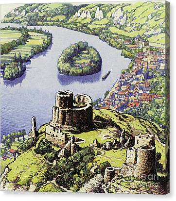 Chateau Gaillard, Also Known As The New Castle Of The Rock  Canvas Print by Pat Nicolle