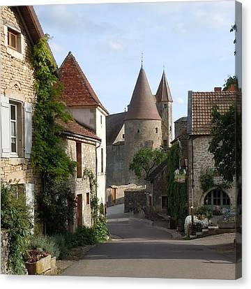 Chateauneuf En Auxois Burgundy France Canvas Print