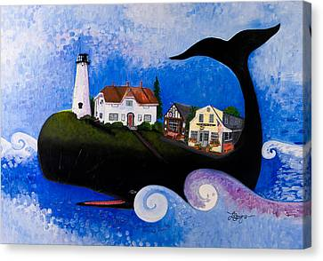Chatham - A Whale Of A Town Canvas Print by Theresa LaBrecque