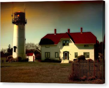 Chatham Lighhouse Canvas Print by Gina Cormier