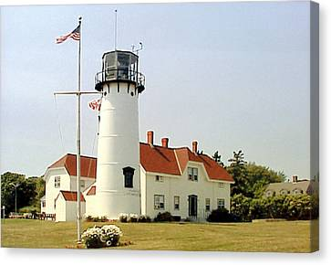 Canvas Print featuring the photograph Chatham Lighthouse by Frederic Kohli