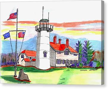 Chatham Lighthouse Canvas Print by Paul Meinerth