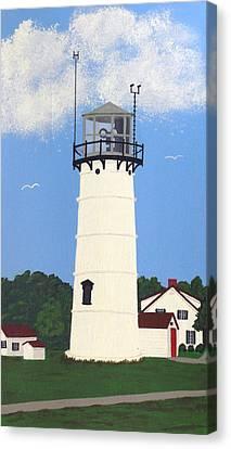 Chatham Lighthouse Tower Canvas Print by Frederic Kohli