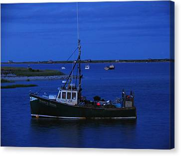 Chatham Canvas Print - Chatham Pier Fisherman Boat  by Juergen Roth
