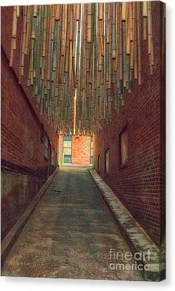 Chattanooga Alley Canvas Print by Geraldine DeBoer