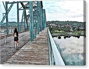 Chattanooga Footbridge Canvas Print