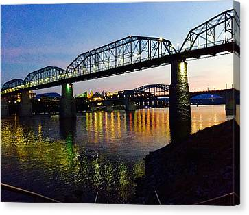 Chattanooga Nites Canvas Print by Steven Lebron Langston