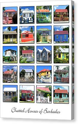 Chattel Houses Of Barbados Canvas Print by Barbara Marcus
