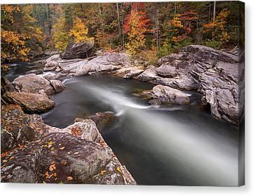 Chattooga River At Hurricane Rapid Canvas Print by Derek Thornton