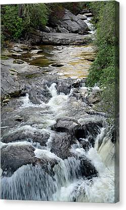 Chattooga River In South Carolina Canvas Print by Bruce Gourley