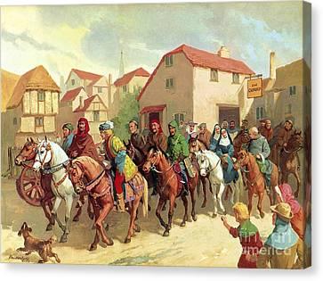 Chaucer's Pilgrims Canvas Print by van der Syde