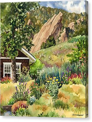 Canvas Print featuring the painting Chautauqua Cottage by Anne Gifford