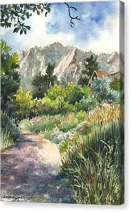 Canvas Print featuring the painting Chautauqua Morning by Anne Gifford
