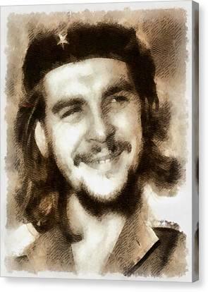 Che Guevara, Political Activist Canvas Print by John Springfield