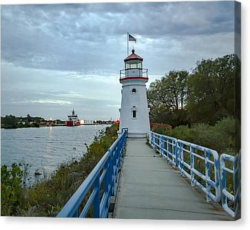 Cheboygan Crib Lighthouse Lake Huron, Lower Peninsula Mi Canvas Print