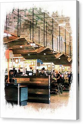 Grocery Store Canvas Print - Check Out Whole Foods by Michael Perlin