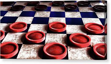 Checker Board Art No.5 Canvas Print