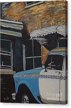 Checker Cab Canvas Print