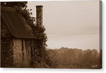 Checkered Chimney Canvas Print by Ed Smith