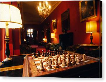 Checkmate At Dromoland Canvas Print by Carl Purcell