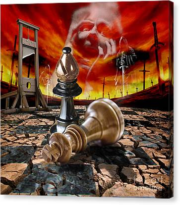 Checkmate Canvas Print by Daniela Constantinescu