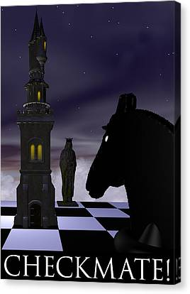 Checkmate Canvas Print by David Griffith