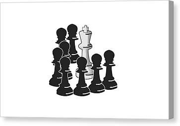 Checkmate Canvas Print by Ricardo Calvente