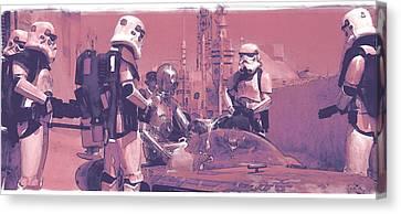 Checkpoint Canvas Print by Kurt Ramschissel