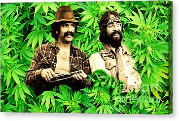 Cheech Marin And Tommy Chong Canvas Print by Pd