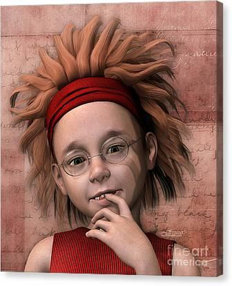 Cheeky Little Miss Canvas Print by Jutta Maria Pusl