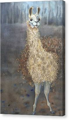 Cheeky The Llama Canvas Print by Anne Havard