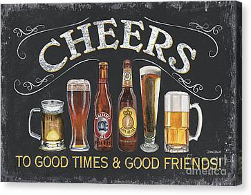 Brown Canvas Print - Cheers  by Debbie DeWitt