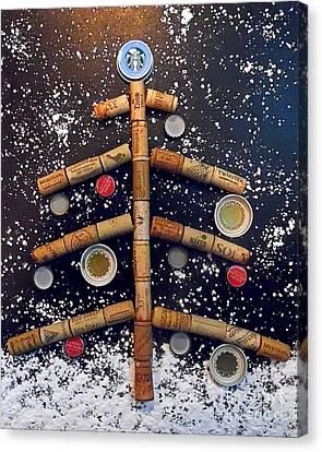 Cheers To Christmas Canvas Print by Jilian Cramb - AMothersFineArt