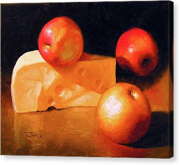 Cheese And Apples Canvas Print by Timothy Jones
