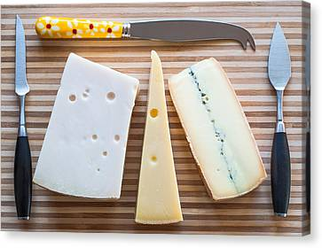 Canvas Print featuring the photograph Cheese Board by Ari Salmela