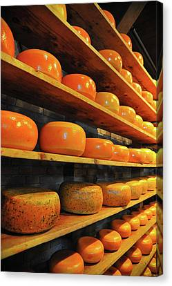 Canvas Print featuring the photograph Cheese In Holland by Harry Spitz