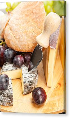Cheese Plate Canvas Print by Wolfgang Steiner