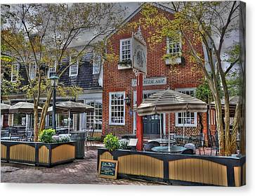 Williamsburg Canvas Print - Cheese Shop by Todd Hostetter